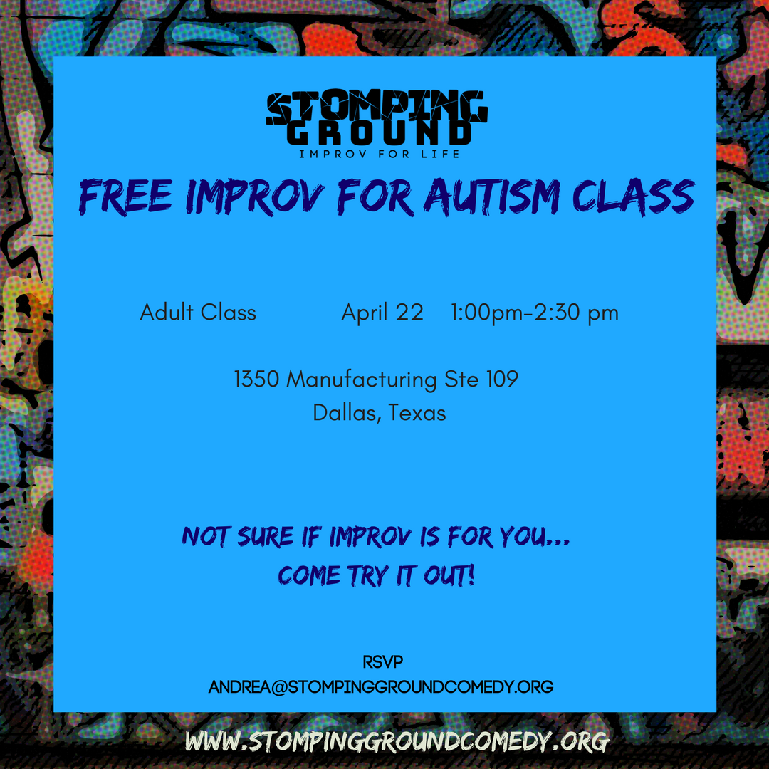 FREE Improv for Autism Class for Adults