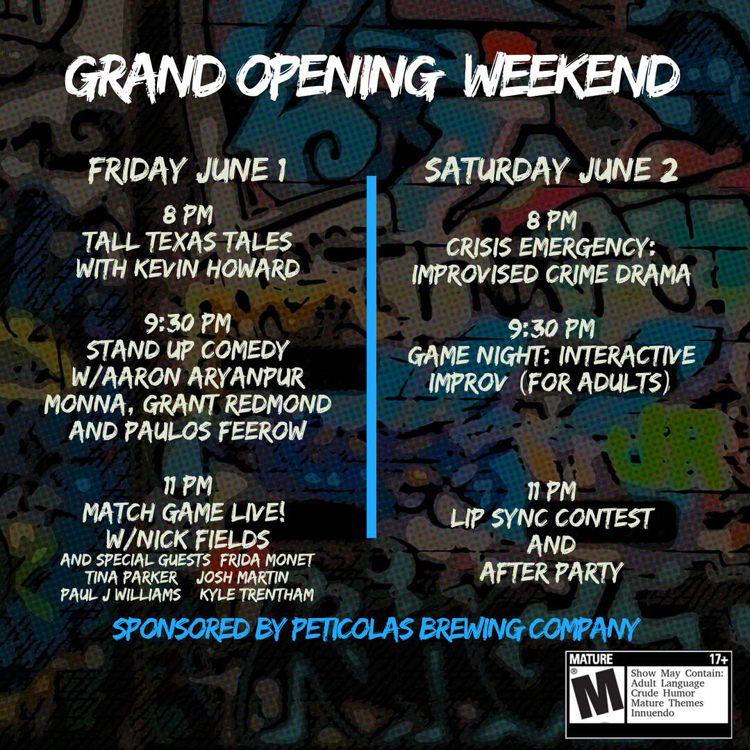 Grand Opening Comedy Bash