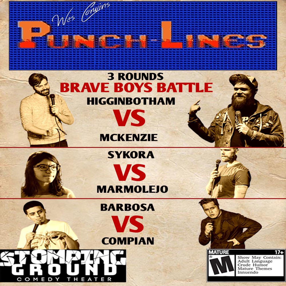 Wes Corwin's Punch-Lines Roast Battle – Stomping Ground Comedy Theater